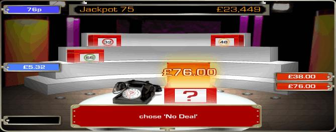 Deal or No Deal Bingo Game