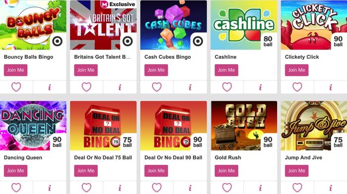 Bingo Games at Mecca Bingo